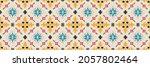 ikat geometric folklore... | Shutterstock .eps vector #2057802464
