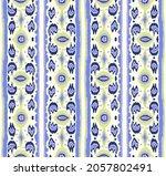 ikat geometric folklore... | Shutterstock .eps vector #2057802491
