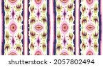 ikat geometric folklore... | Shutterstock .eps vector #2057802494