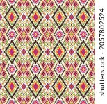 ikat geometric folklore... | Shutterstock .eps vector #2057802524