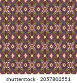 ikat geometric folklore... | Shutterstock .eps vector #2057802551