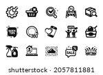 vector set of cleaning liquids  ... | Shutterstock .eps vector #2057811881