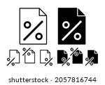 percent sign vector icon in...