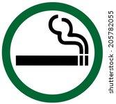 Smoking Area On White Background