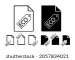 eco tag outline vector icon in...