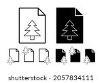 tree outline vector icon in...