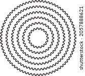 round circular wave border... | Shutterstock .eps vector #2057888621