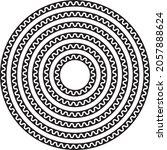 round circular wave border... | Shutterstock .eps vector #2057888624