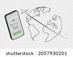 online shopping and logistics  ... | Shutterstock .eps vector #2057930201