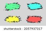set of colorful liquid splash... | Shutterstock .eps vector #2057937317