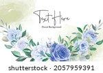 elegant floral frame background ... | Shutterstock .eps vector #2057959391