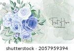 elegant floral frame background ... | Shutterstock .eps vector #2057959394