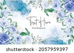 elegant floral frame background ... | Shutterstock .eps vector #2057959397