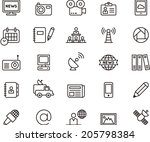 journalism   media icons | Shutterstock .eps vector #205798384