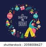 christmas and new year design... | Shutterstock .eps vector #2058008627