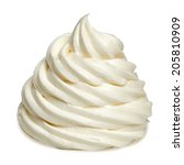 Soft Vanilla Ice Cream Isolate...
