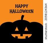 happy halloween. pumpkin. black ...   Shutterstock .eps vector #2058124364