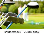 golf club against the... | Shutterstock . vector #205815859