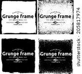 abstract grunge frame set.... | Shutterstock .eps vector #205817974