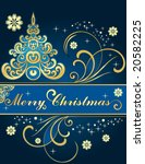 background for new year and for ... | Shutterstock .eps vector #20582225
