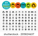 77 high quality people icons | Shutterstock .eps vector #205824637