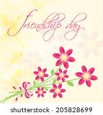 greeting card design on... | Shutterstock .eps vector #205828699
