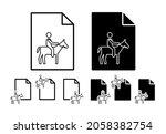 horse riding sign vector icon...