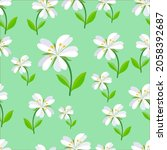seamless floral and leaves...   Shutterstock .eps vector #2058392687