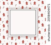 empty background with cookies...   Shutterstock .eps vector #2058404471