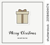 christmas greeting card with a...   Shutterstock .eps vector #2058404474