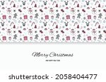 christmas greeting card with...   Shutterstock .eps vector #2058404477