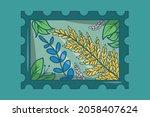 illustration of a postage stamp ...   Shutterstock .eps vector #2058407624