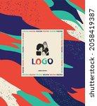 minimal report design vector...   Shutterstock .eps vector #2058419387