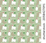 a seamless pattern with cute...   Shutterstock .eps vector #2058427091