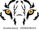 tiger eyes for t shirt design | Shutterstock .eps vector #2058428414