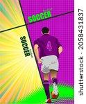 footballer on abstract... | Shutterstock .eps vector #2058431837