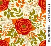 seamless pattern flower.elegant ... | Shutterstock .eps vector #2058436871
