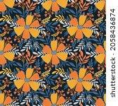seamless pattern flower.elegant ... | Shutterstock .eps vector #2058436874