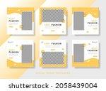 baby banner template for social ... | Shutterstock .eps vector #2058439004