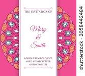 wedding invitation template... | Shutterstock .eps vector #2058442484