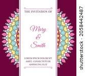wedding invitation template... | Shutterstock .eps vector #2058442487
