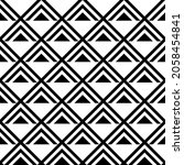 pattern with striped triangles. ... | Shutterstock .eps vector #2058454841