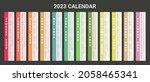year 2023 calendar vector... | Shutterstock .eps vector #2058465341