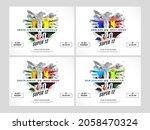 t20 super 12 social media post... | Shutterstock .eps vector #2058470324