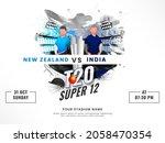 t20 cricket super 12 match... | Shutterstock .eps vector #2058470354