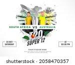 t20 cricket super 12 match... | Shutterstock .eps vector #2058470357