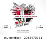 t20 fever is back concept with... | Shutterstock .eps vector #2058470381