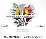 t20 cricket super 12 match... | Shutterstock .eps vector #2058470384