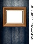 old picture frame on vintage... | Shutterstock . vector #205847104
