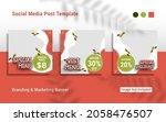 social media post template for... | Shutterstock .eps vector #2058476507